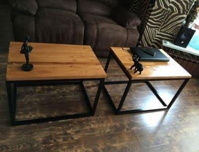 купить журнальный стол из дерева и металла в стиле лофт інтернет